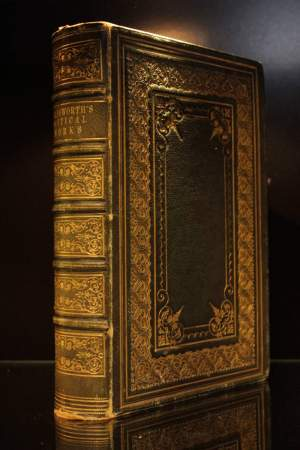 Green Morocco Leather Bound Wordsworth Verse Book