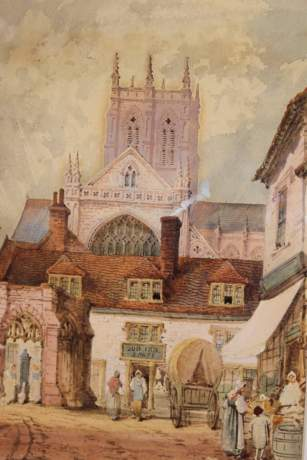 Watercolour of The Sun Inn by Charles Rousee image-2