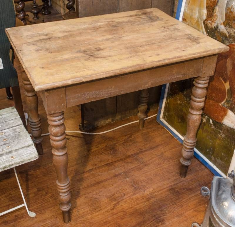 Victorian Pine Table In Original Condition