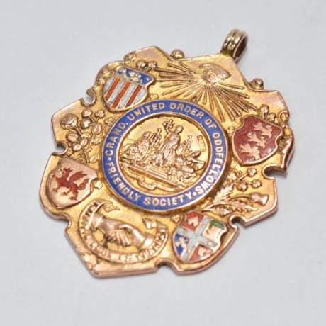 9ct Gold Oddfellows Society Watch Fob Medal image-2