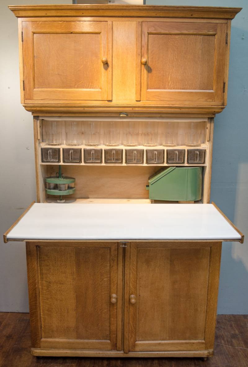 1920s quicksey solid oak kitchen cabinet antique for 1920 kitchen cabinets