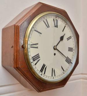 Octagonal Fusee English Eight Day Wall Clock
