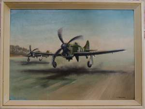 Le Grand Charles Oil Painting of a Hawker Tempest