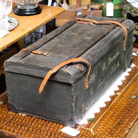 Early 20th Century French Military Trunk image-4
