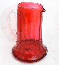Victorian Cranberry Glass Pitcher