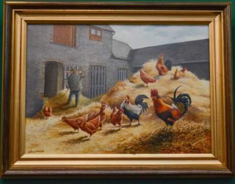 Farmyard Scene by John C Moore image-1