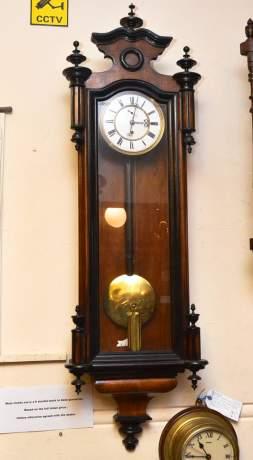 Single Weight 8 Day Vienna Regulator Clock image-1