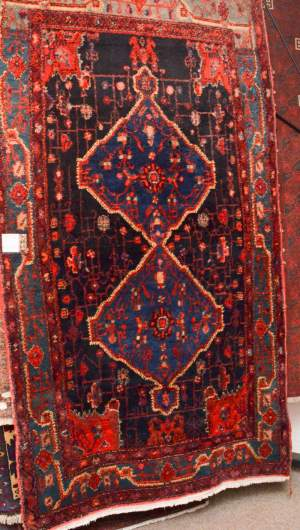 Old Hand Knotted Kurdish Rug