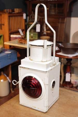 British Rail White Enamel Coated Metal Lantern