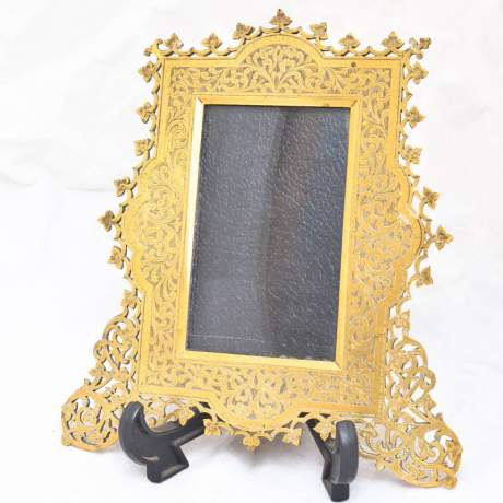 Victorian Brass Chased Photography Frame image-1