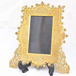 Victorian Brass Chased Photography Frame
