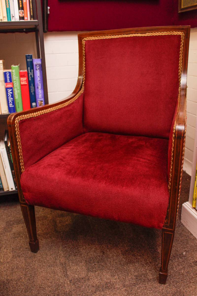 Antique Inlaid Mahogany Armchair - Hemswell Antique Centres