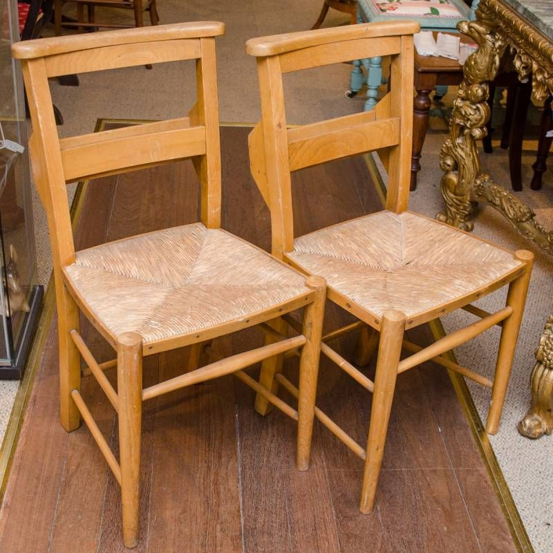 Pair of vintage chapel chairs furniture etc hemswell for Furniture etc