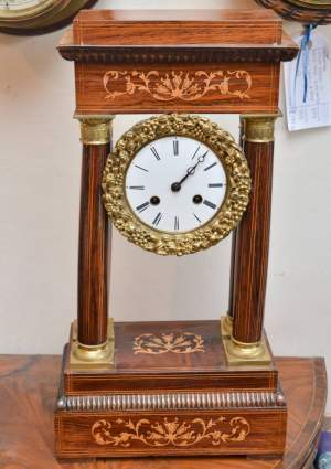French Portico Table Clock