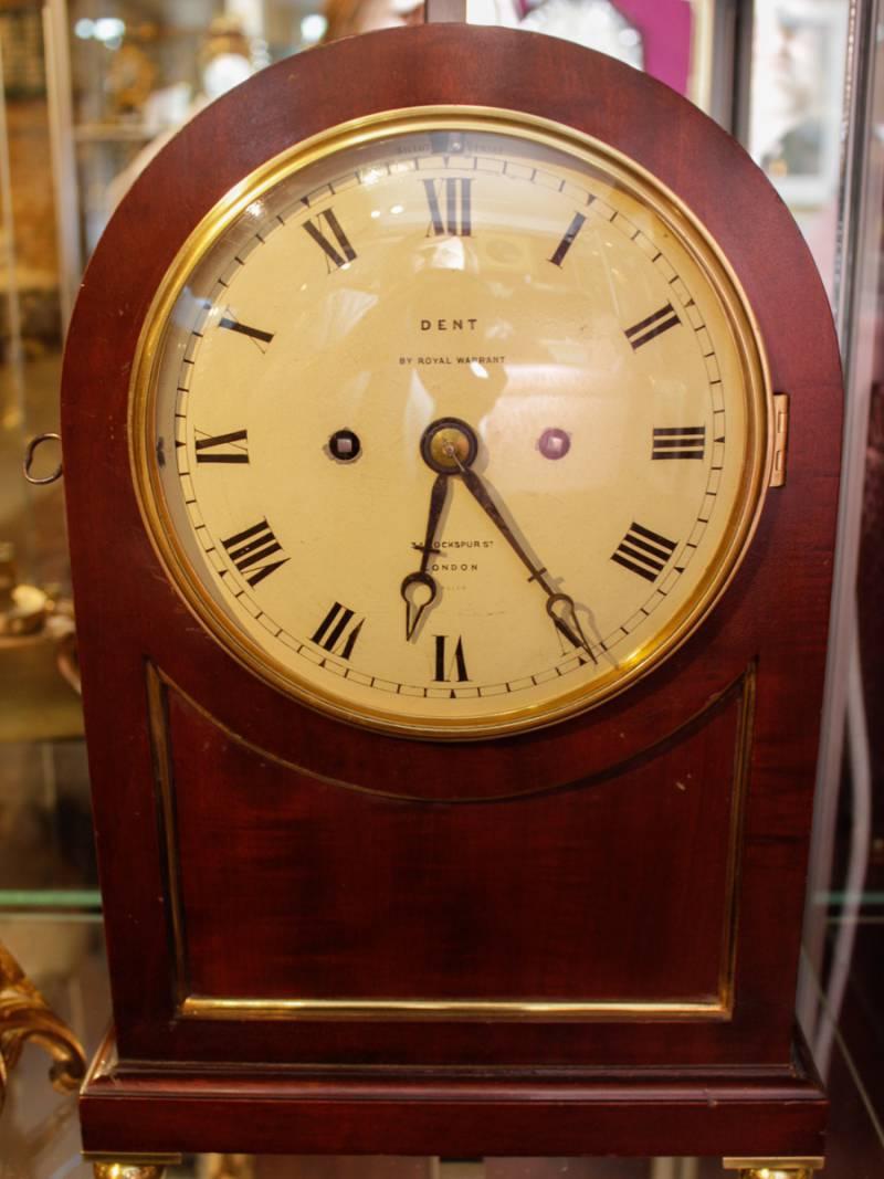 Antique Mantel Clocks >> English Fusee Bracket Clock by Dent of London - Mantel ...