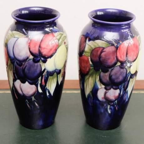 Pair of Moorcroft Wisteria Pattern Vases image-2
