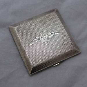 Hallmarked Silver Compact RAF Wings