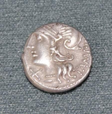 Roman Republic Silver Denarius image-1
