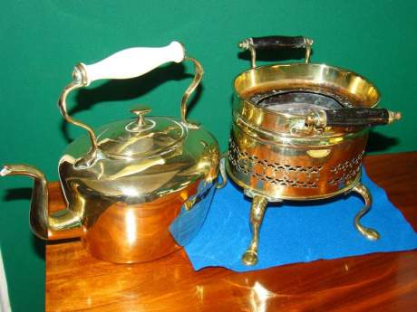Victorian Brass Kettle and Stand image-2