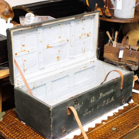 Early 20th Century French Military Trunk image-2