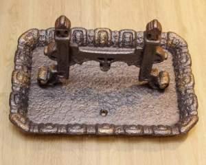 19th Century Cast Iron Boot Scraper