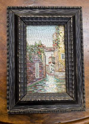 19th Century Framed Micro Mosaic