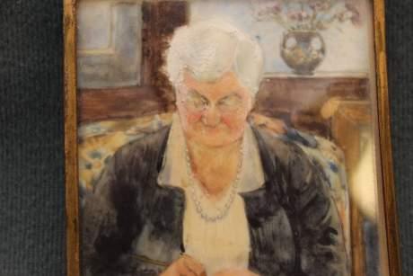 Mary Hallwood Antique Portrait Miniature image-3