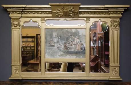 Impressive Victorian Overmantel Mirror image-1