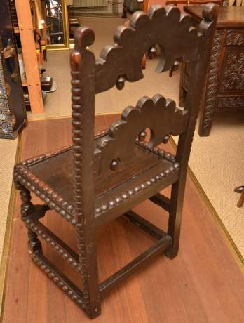 Late 17th Century Joined Oak Derbyshire Chair image-4