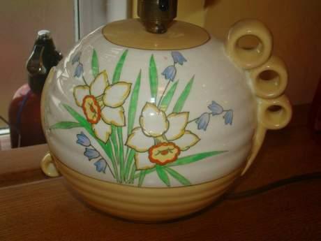 Crown Devon Art Deco Ceramic Lampbase image-2