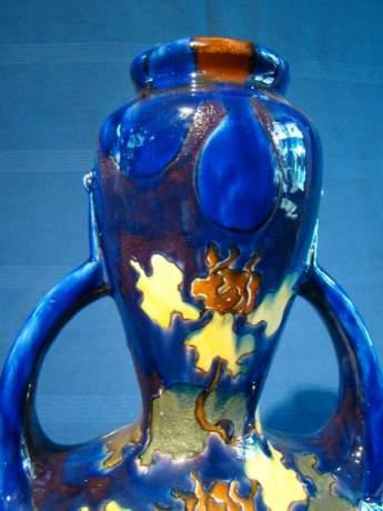 Austrian Art Double Handle Pottery Vase image-2