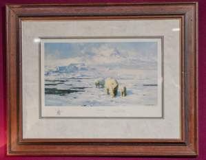David Shepherd Signed Print of Ice Wilderness