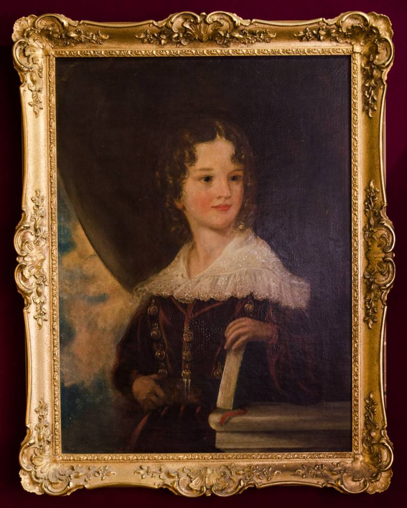 Beautiful 19th Century Portrait Of A Young Girl