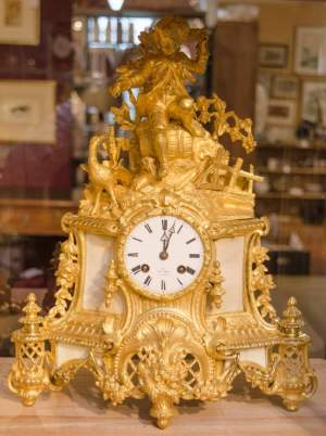 Late 19th Century French Gilded Bronze Clock
