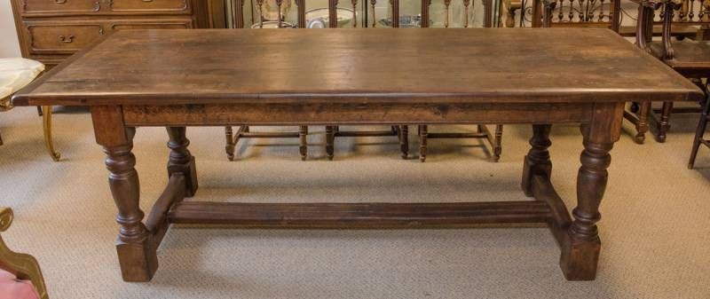 19th Century Heavy Oak Monks Table - Antique Dining Tables ...