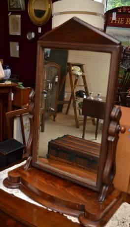 Victorian Walnut Dressing Table Mirror image-1