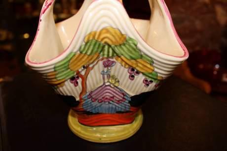 Clarice Cliff Applique Idyll Flower Basket image-2