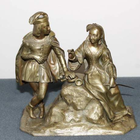 French Gilt Bronze Double Figure image-1