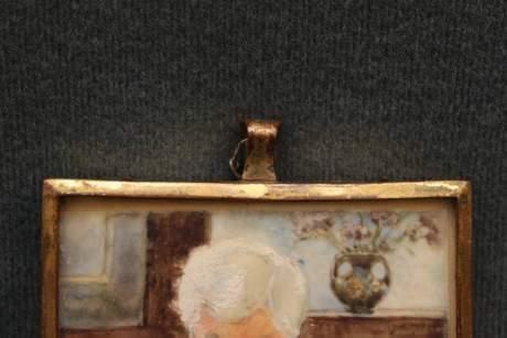Mary Hallwood Antique Portrait Miniature image-4