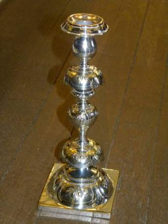 Rare Pair of Russian Alter Candlesticks image-2