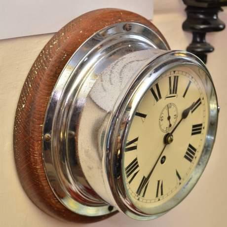 Chrome Cased Ships Clock image-1
