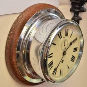 Chrome Cased Ships Clock