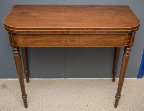 Regency Mahogany Tea Table image-1