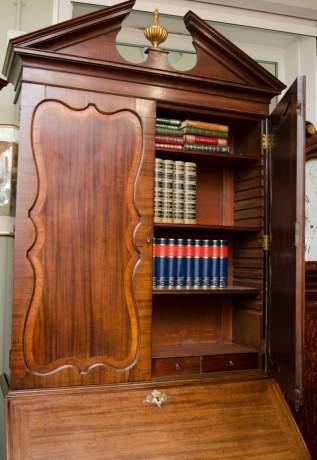 18th Century Mahogany Bureau Bookcase image-2