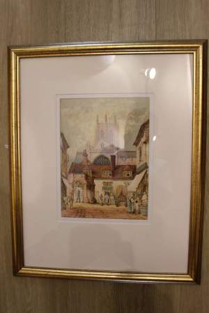 Watercolour of The Sun Inn by Charles Rousee