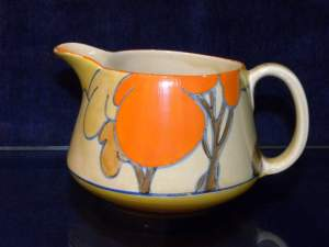 Clarice Cliff Orange Autumn Milk Jug
