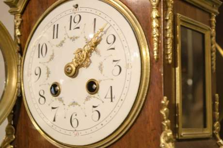 French Rosewood and Gilt Clock image-2
