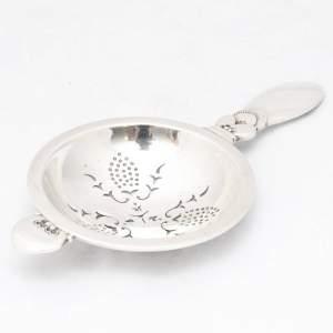 Georg Jensen, Cactus pattern Silver Tea Strainer C1934