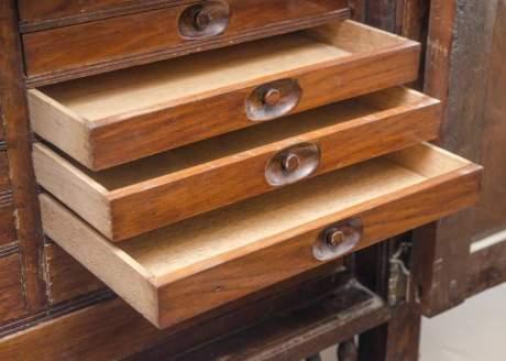 Antique Carved Oak Corner Cupboard image-4