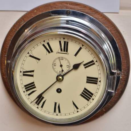 Chrome Cased Ships Clock image-2